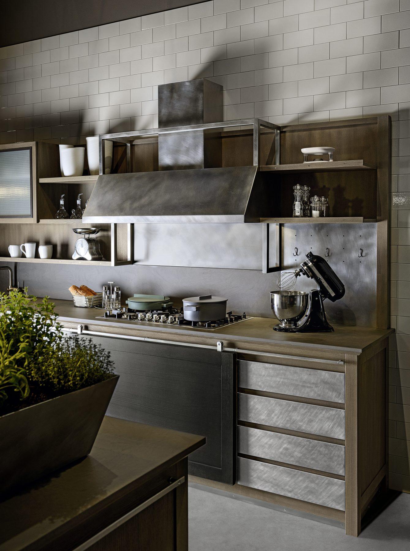 Cucine Moderne Con Ante Scorrevoli.Cucina Industrial Chic La Cucina Elegante Con Carattere L