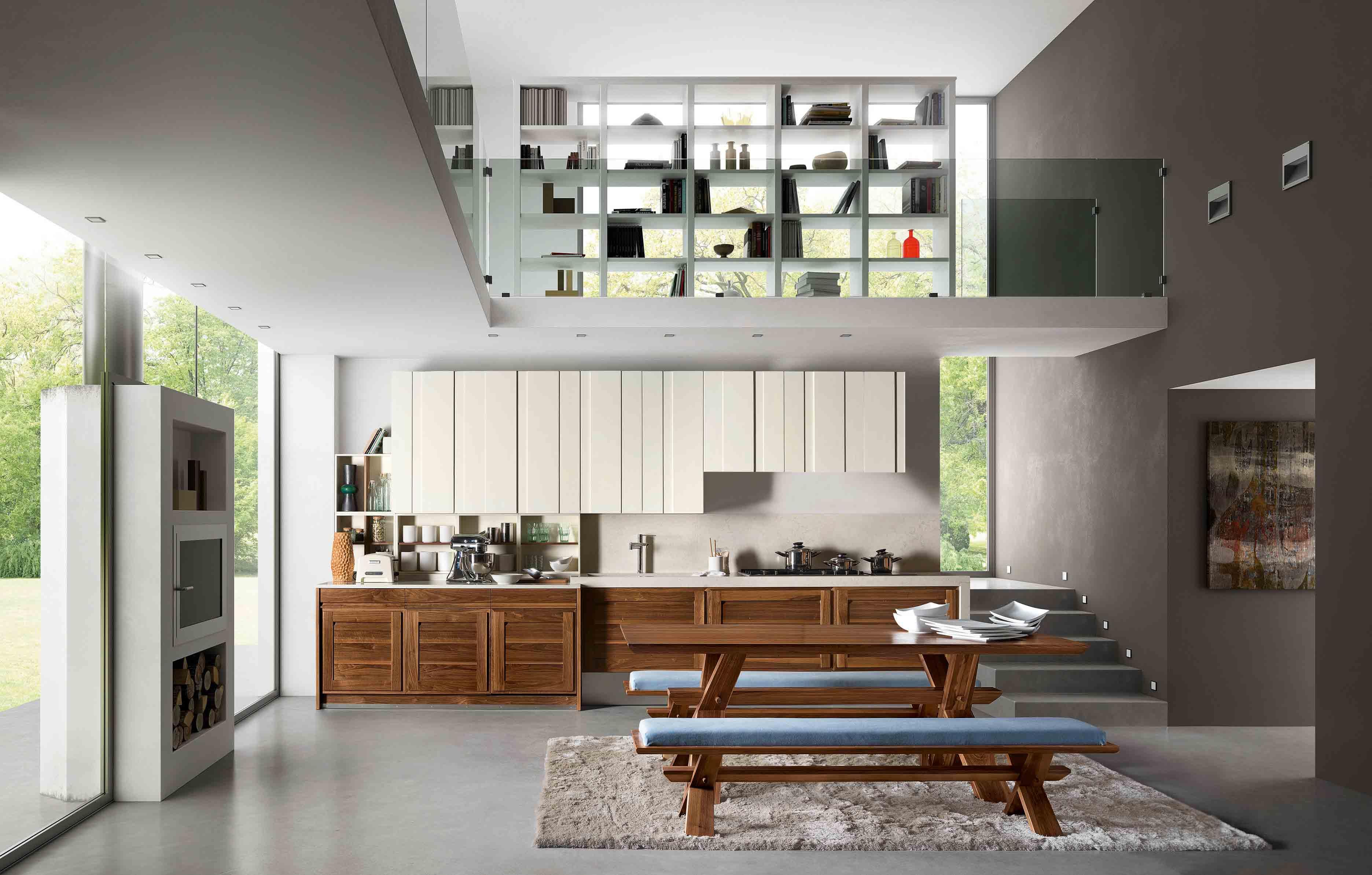 Cucina Canaletto - Cucina moderna in legno massello   L ...